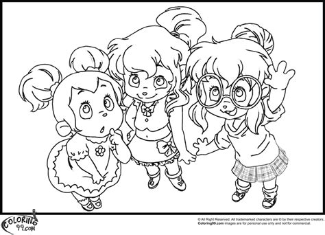alvin chipettes coloring pages   print