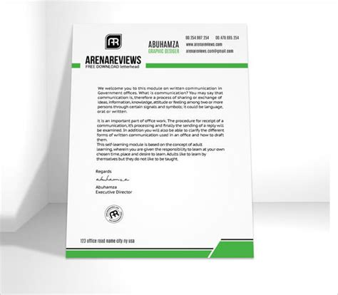 sample company letterhead template    psd