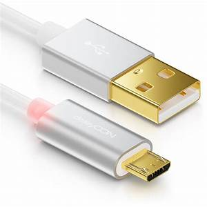 Micro Usb Schnellladekabel : deleycon micro usb kabel mit led datenkabel schnellladekabel wei deleycon ~ Eleganceandgraceweddings.com Haus und Dekorationen