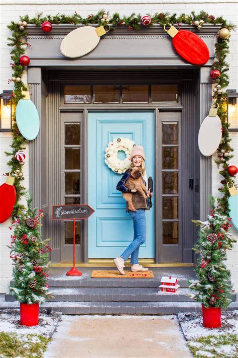 outdoor christmas door decorations diy wood lights