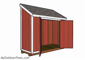 4x10 Lean to Shed Roof Plans MyOutdoorPlans Free