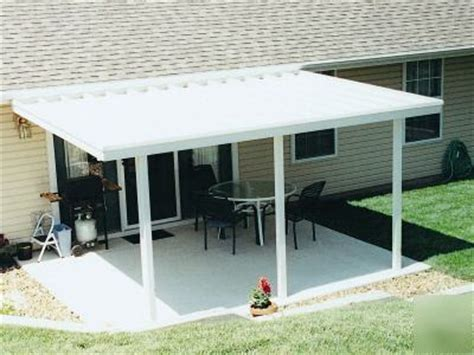 12x18 aluminum flat pan patio cover with sreen room