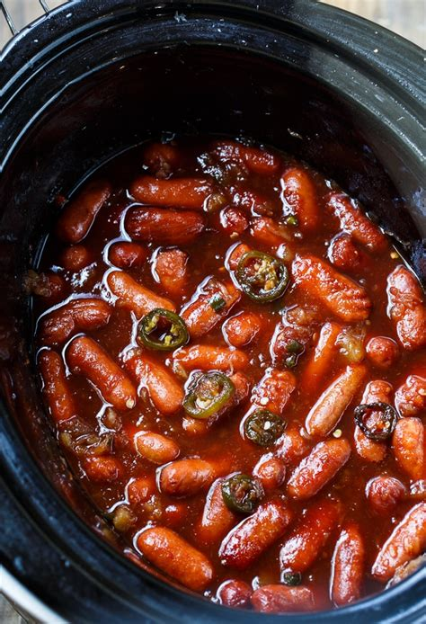 crockpot appetizers crock pot little smokies spicy southern kitchen
