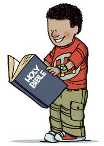 Child Reading Bible Clip Art