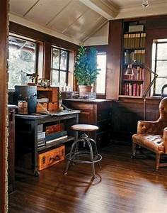 45 charming vintage home offices digsdigs With home office ideas homey feeling and office look