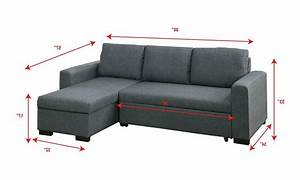 Small, Space, Sleeper, Sectional, Sofa, Storage, Chaise, Pull