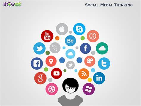 social media powerpoint template   media
