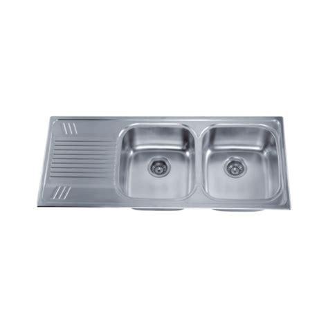 cae kn2016 1 double bowl drop in sink left drainboard