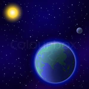 Space background : planet mother ... | Stock Vector ...