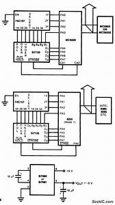Interface To 680x 650x And 8080 Families - Basic Circuit - Circuit Diagram