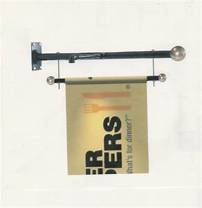 outdoor banner brackets wall mount banner brackets iron With outdoor wall light mounting hardware