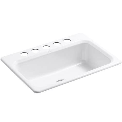 Kohler Enameled Cast Iron Sink Color Sles by Kohler Bakersfield Cast Iron Undermount Kitchen Sink 5832 5u