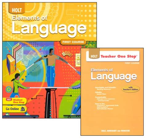 Holt Elements Of Language Homeschool Package Grade 7 (first Course) (047823) Details Rainbow