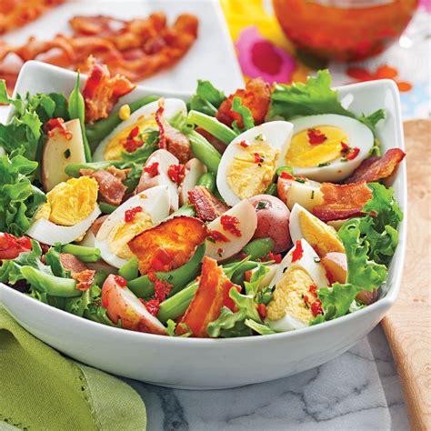 salade de pommes de terre aux œufs et haricots verts