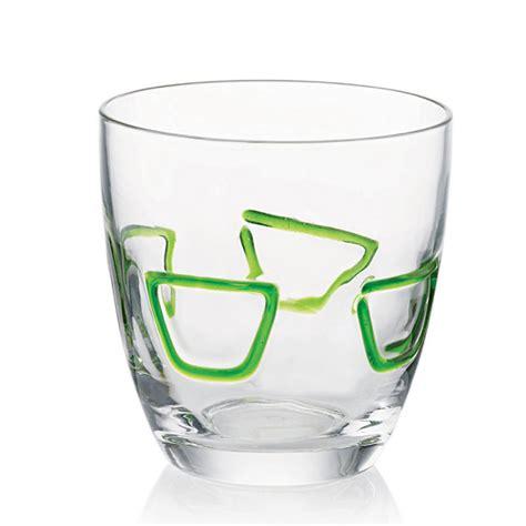 guzzini bicchieri bicchieri acqua 6pz mirage verde guzzini stilcasa net