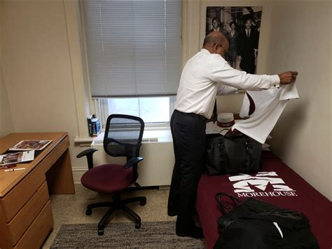 morehouse president moves   colleges dorms