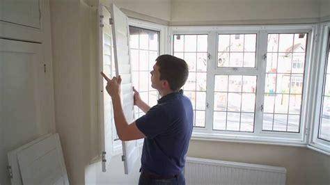 install section angled bay window shutter youtube