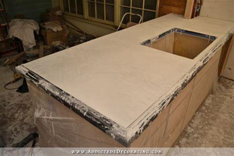 DIY Pour In Place Concrete Countertops ? Part 2