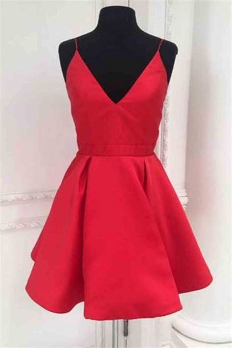 Red Short Prom Dresses With Straps Wwwpixsharkcom