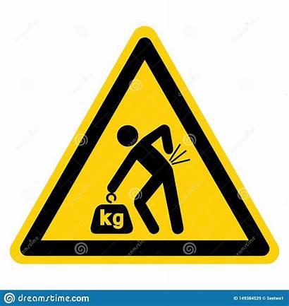 Hazard Lifting Symbol Isolate Het Correct Label