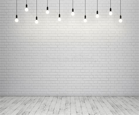 painted brick wall and wooden floor with glowing light
