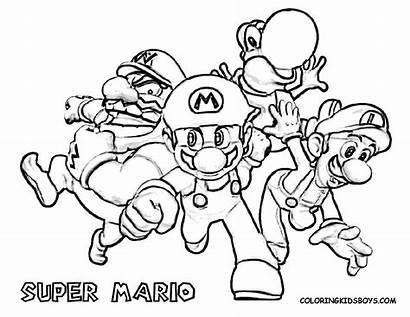 Mario Coloring Kart Bowser Friends Daisy Printable