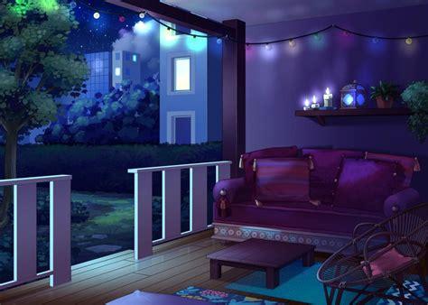 aesthetic modern anime bedroom background time