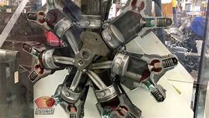 Jacobs R-755 Radial Engine Cutaway In Motion