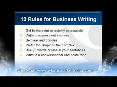 business writing tips  effective business emails