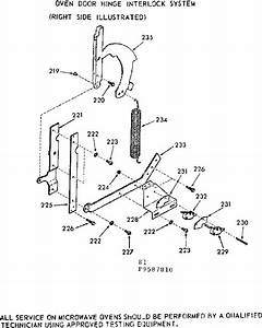 Oven Door Hinge Interlock System Diagram  U0026 Parts List For