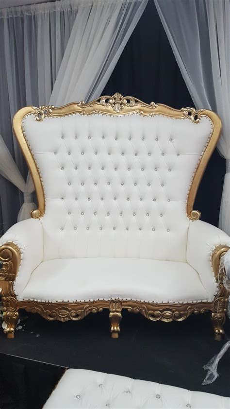 throne loveseat ivory w gold trim rentals new orleans la