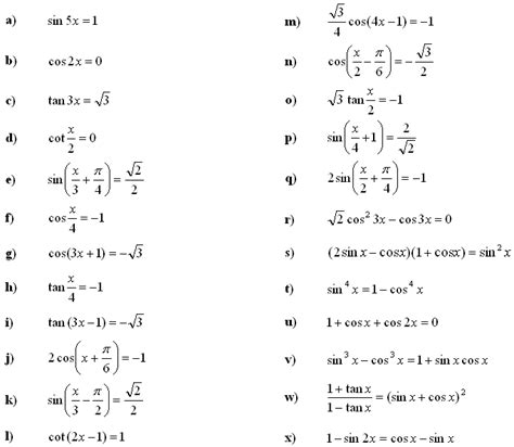 solving trig equations worksheet worksheets for all