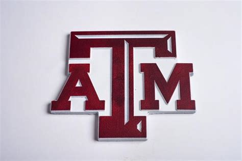Chocolate Texas A&m Block Atm Logo In Maroon & White
