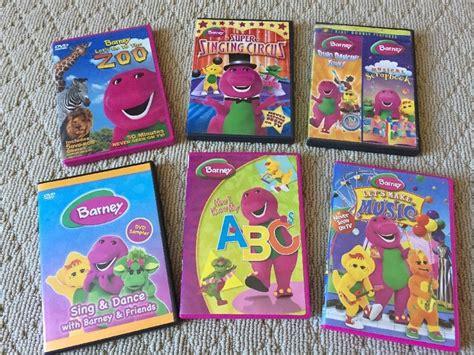lot of 6 barney dvd s ideas ideas