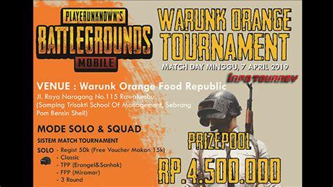 turnamen pubg mobile warunk orange tournament