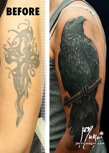 crow coverup tattoo tattoo pinterest crows  tattoo