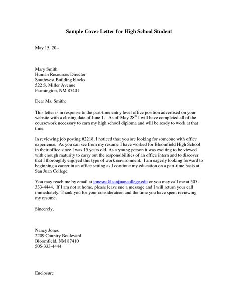 cover letter examples  college students