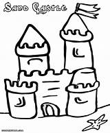 Sandcastle Coloring Pages Colorings sketch template