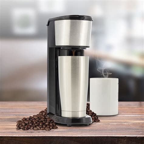 It is a compact and sleek look single cup coffee maker. Eternal Single Cup Coffee Maker   Wayfair
