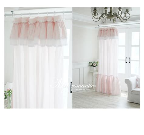 shop popular ruffled curtains pink from china aliexpress