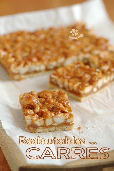 carres noix de cajou noix de macadamia caramel gourmandise