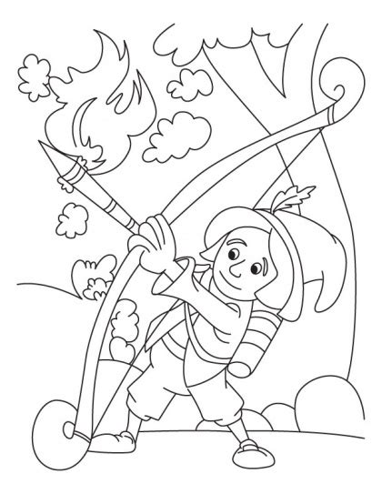 arrow quiver coloring page coloring pages
