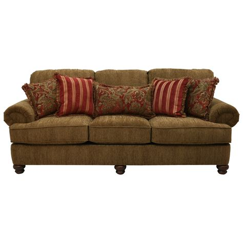 Sofa With Rolled Arms And Decorative Pillows By Jackson