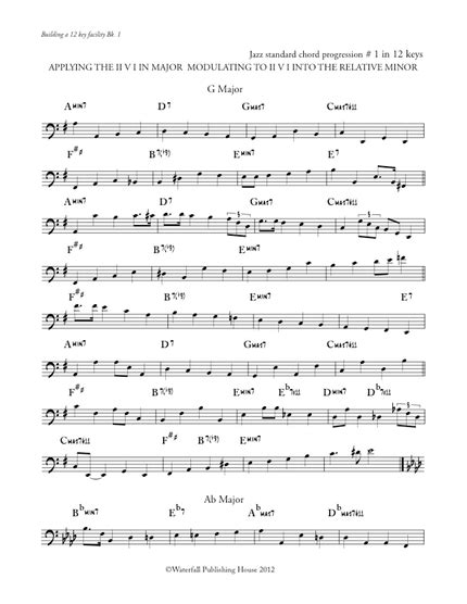 Jazz standard bass line transcription -Book IV Building a