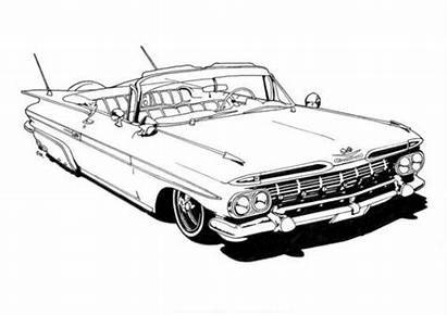 Lowrider Coloring Drawings Pages Cars Low Classic