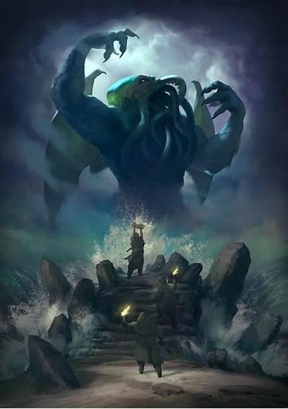 Cthulhu Lovecraft Hp Monsters Lovecraftian Stayinwonderland Sacrifice