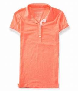 Aeropostale Womens Heathered Polo Shirt | eBay