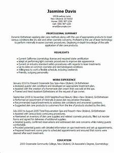 12 sample esthetician resume 2016 samplebusinessresume With free esthetician resume templates