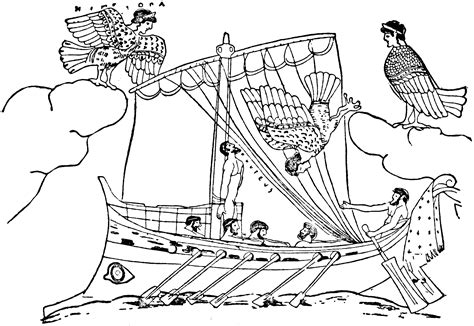 Ulysses And Sirens Clipart Etc