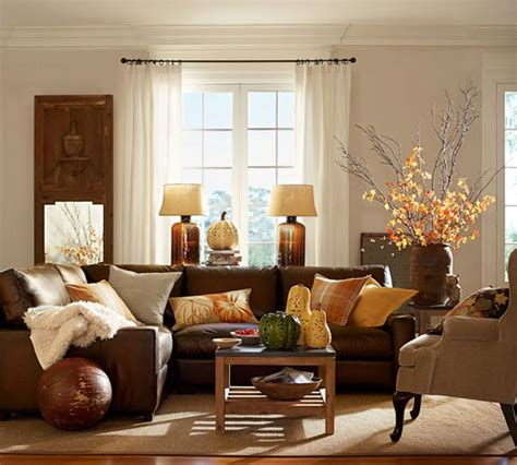 pottery barn fall decor fall colors decor with orange gold brown
